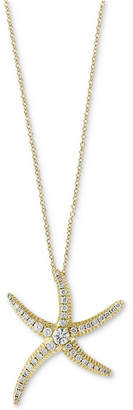 Effy Seaside by Diamond Pave Starfish Pendant Necklace (1/2 ct. t.w.) in 14k Gold