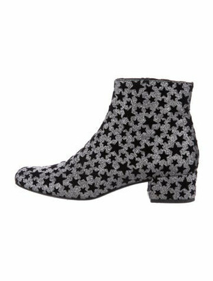Saint Laurent Star Rock Printed Boots Black