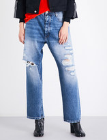 Unravel Baggy-fit mid-rise distressed jeans