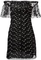 Giamba off-the-shoulder mini-dress - women - Cotton/Polyester - 40