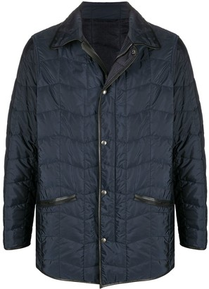 Salvatore Ferragamo Piped-Trim Padded Jacket