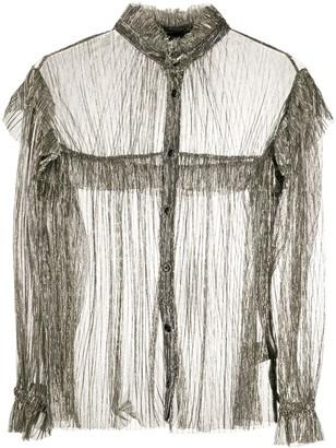 Etoile Isabel Marant Elmirae metallic ruffled blouse