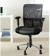 Safavieh Bernard PVC Leather Office Chair in Black