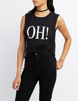 Charlotte Russe Oh! Muscle Tank Top