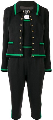 Chanel Pre-Owned 1994 strapless playsuit and jacket