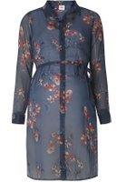Dorothy Perkins Womens **Mamalicious Maternity Navy Floral Print Shirt- Navy
