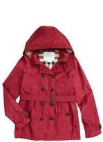 Burberry 'Grangemoore' Hooded Trench Coat (Little Girls & Big Girls)