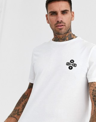 New Look NY dot chest print in white