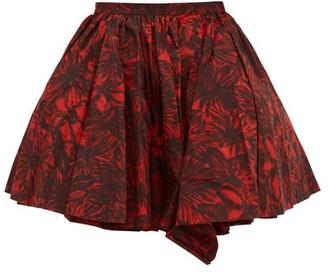 Toga Voluminous Floral-print Taffeta Skirt - Womens - Red