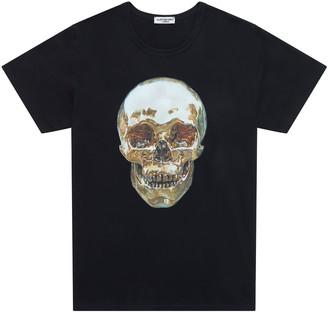 Alistair Grey Gold Skull T-Shirt