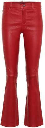 STOULS Dean mid-rise cropped leather pants