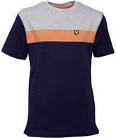 Lyle & Scott Boys Block Colour T-Shirt Deep Indigo