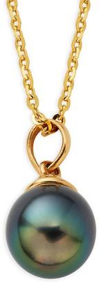 Tara Pearls 14K Yellow Gold & 8-9MM Tahitian Pearl Pendant Necklace