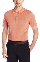 Izod Men's Short-Sleeve Clubhouse Stripe Jersey Golf Polo Shirt