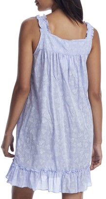 Eileen West Short Woven Chambray Chemise