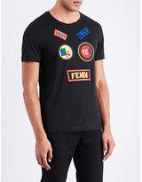 Fendi Patch Appliqué Cotton-jersey T-shirt