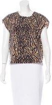 Giambattista Valli Mohair & Wool-Blend Leopard Print Top