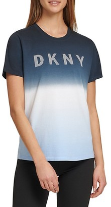 Dkny Sport Dip-Dye Logo T-Shirt