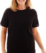 Alfred Dunner Short-Sleeve Chevron Sweater