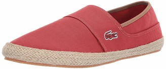 Lacoste Men's Marice Sneaker red/light brown 9 Medium US