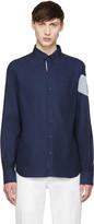 Moncler Gamme Bleu Navy Oxford Shirt