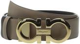Salvatore Ferragamo 23A564 Pebbled Gancini Belt Women's Belts