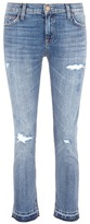Current/Elliott 'The Cropped Straight' letout cuff jeans