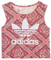 adidas Girls' Printed Logo Top