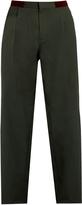 Kolor Pleat-front straight-leg cotton trousers