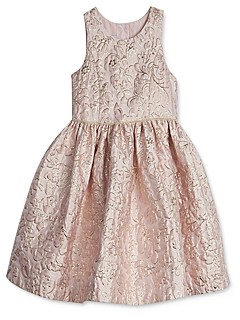 Pippa & Julie Girls' Floral Brocade Dress - Baby