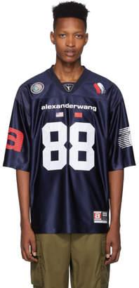 Alexander Wang Navy High Shine Football Jersey