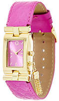 C. Wonder Rectangular Dial Trellis Embossed Strap Watch w/ Tassel