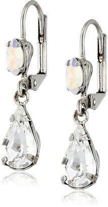 "Sorrelli White Bridal"" Classic Teardrop French Wire Earrings"