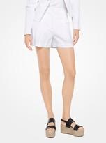 Michael Kors Crushed Cotton Shorts