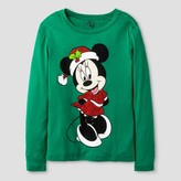 Girls' Minnie Holiday Long Sleeve Tee - Green