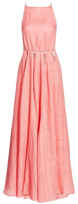Cult Gaia Squareneck Open Back Maxi Dress