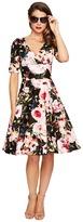 Unique Vintage 1/2 Sleeve Delores Swing Dress Women's Dress