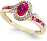 Macy's Ruby (5/8 ct. t.w.) and Diamond (1/10 ct. t.w.) Ring in 14k Gold (Also in Emerald and Sapphire)