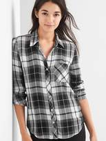 Gap Drapey flannel shirt