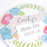 Kimberley Rose Studio Personalised Floral Hen Party Mirror