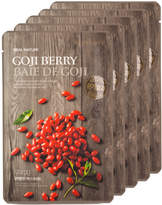 The Face Shop 5Pc Real Nature Goji Berry Face Mask - Anti-Aging