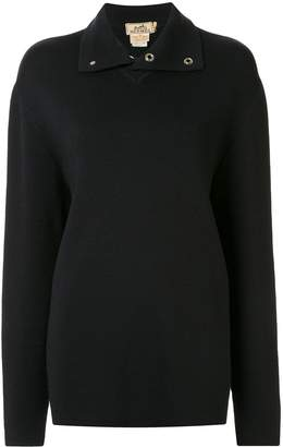 Hermes Pre-Owned wool stand-up collar jumper
