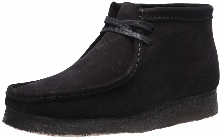 wallabee shoes black leather