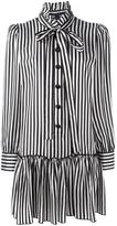 Marc Jacobs striped shirt dress - women - Cupro - 6