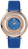 Versace Venus Rose Gold PVD Watch with Lizard Strap, 39mm