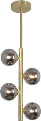 Glucksteinhome Jessamine Steel Glass Ceiling Light Fixture