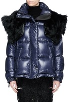 Sacai Detachable sleeve fur collar down puffer jacket