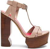 Pura Lopez Caged Platform Heel in Taupe. - size 39 (also in )
