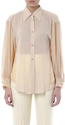 Acne Studios Beige Color Silk Shirt