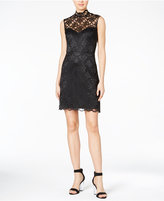 Betsey Johnson Lace Cutout-Back Sheath Dress